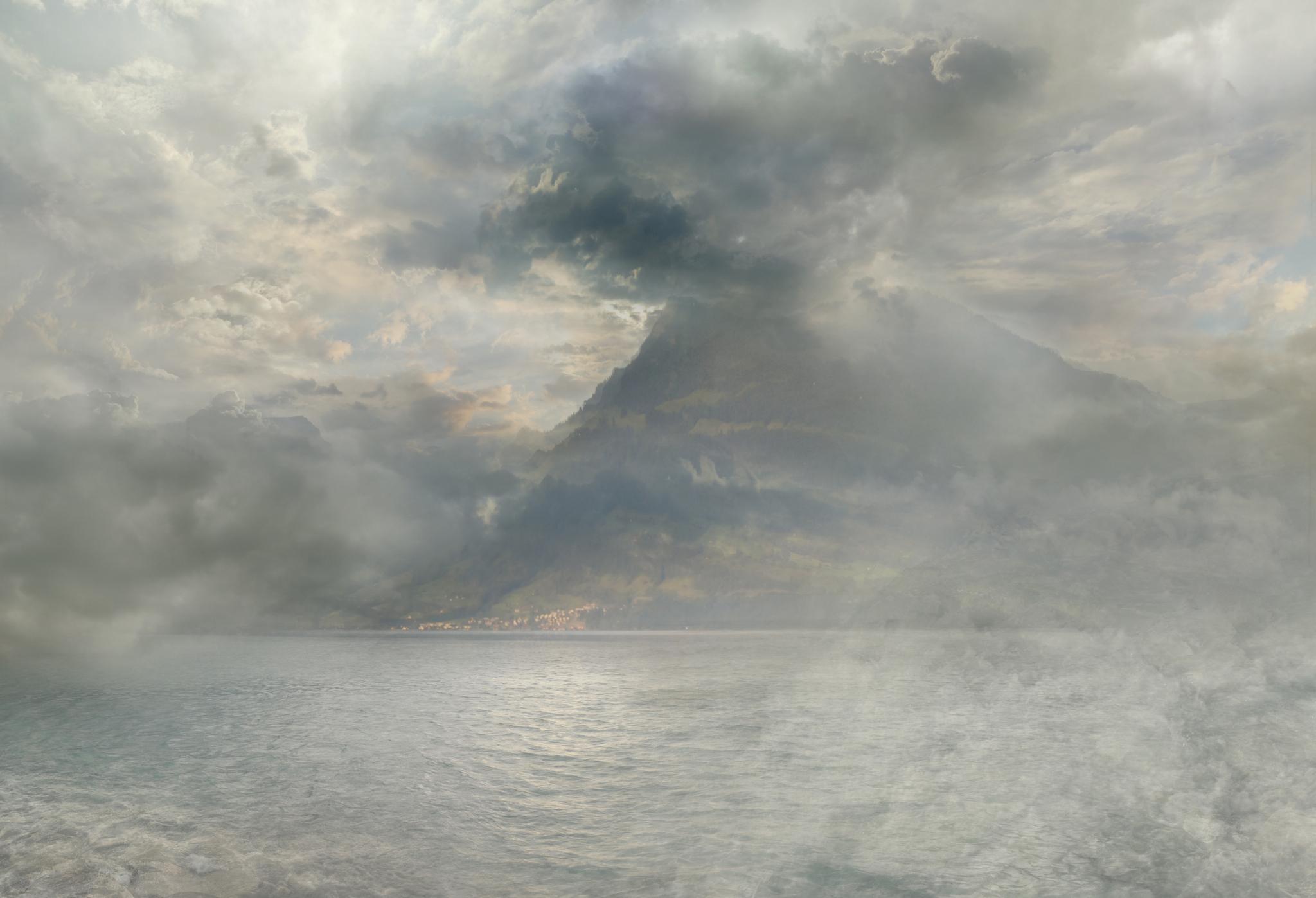 "Hiroyuki Masuyama, ""A Storm over the Rigi"", circa 1844 by Joseph Mallord William Turner, 2014 Diasec LED Lightbox, Auflage 5 + 1 AP, 25 x 37 x 4 cm / Courtesy: Galerie Rothamel Erfurt, Frankfurt M."
