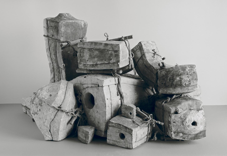 Johannes Wald, Broken Entity  (John the Baptist, Florentine, end of 16th century, marble, h. 143 cm, destroyed), 2016, silver gelatin print 107 x 151 cm unique work / Courtesy Daniel Marzona Gallery