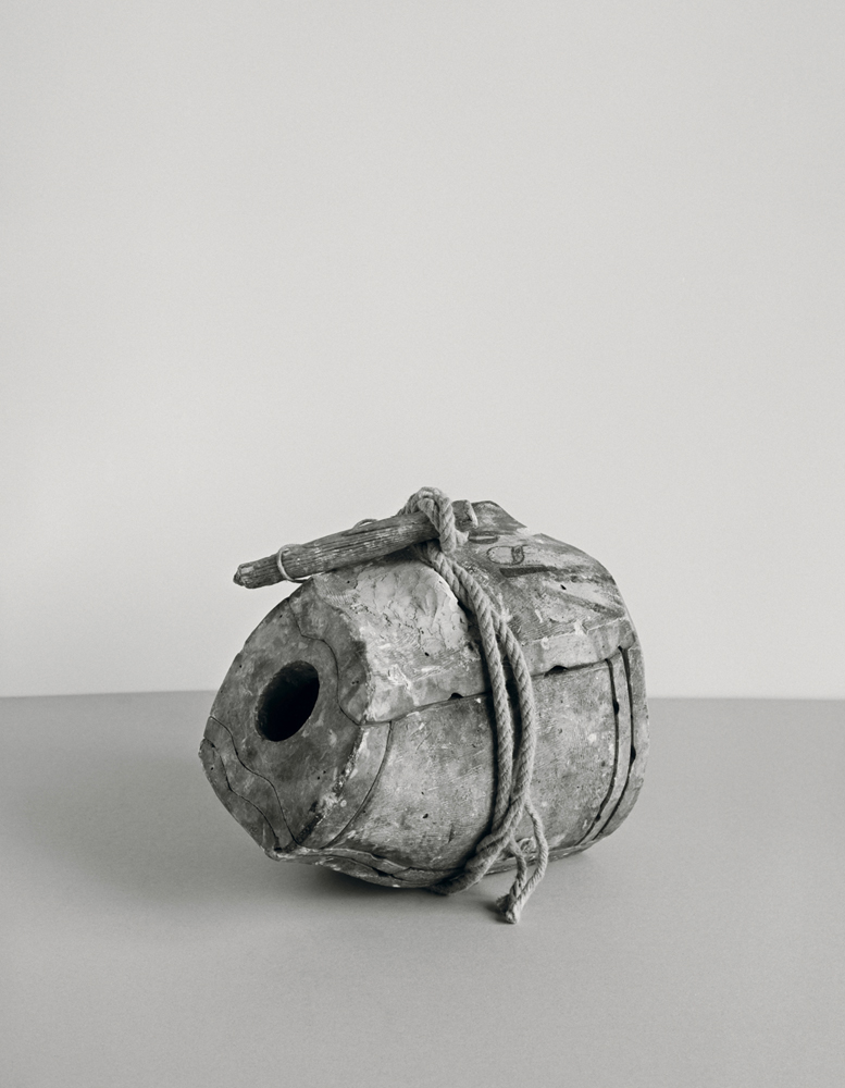 Johannes Wald Broken Entity (portrait of a boy / Julius Claudius, Roman, 1st century A.D., marble, h. 28,5 cm, destroyed) 2016, silver gelatin print 107 x 86.7 cm unique work  / Courtesy Daniel Marzona Gallery