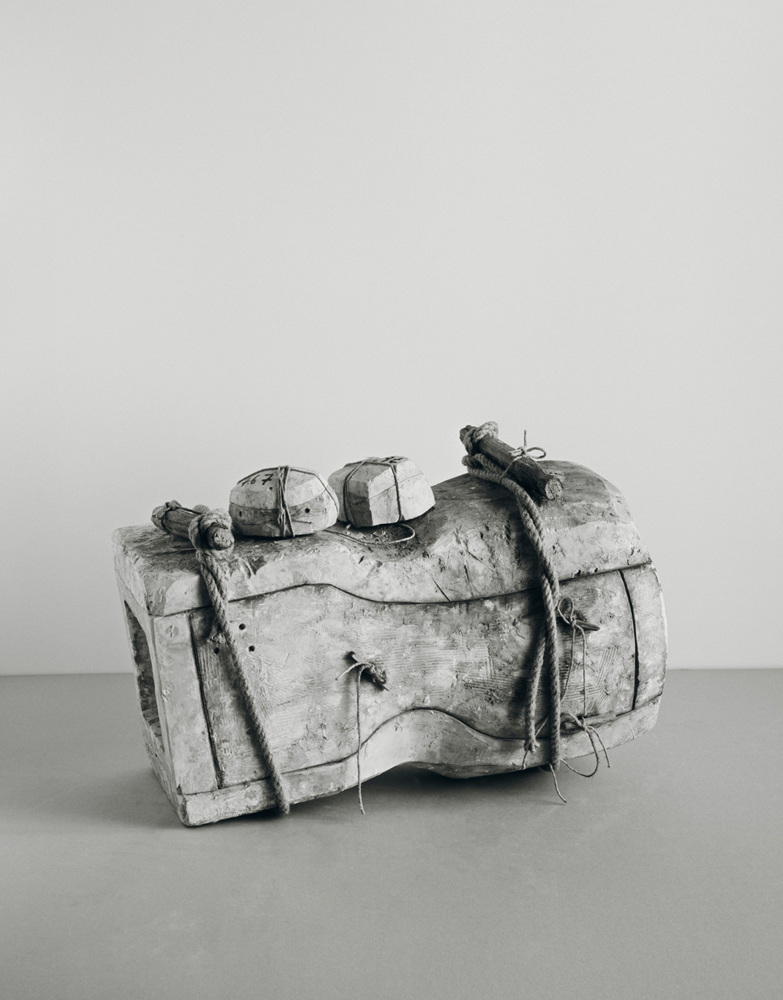 Johannes Wald, Broken Entity (Head of a man, Roman, end of first century A.D., marble, h. 40 cm, destroyed), 2016, silver gelatin print 135 x 107 cm unique work / Courtesy Daniel Marzona Gallery