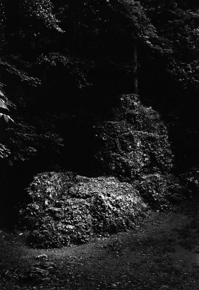 "Andréas Lang, ""Fledermaushöhle & Felsen"", 28 x 35 cm / © Andréas Lang"