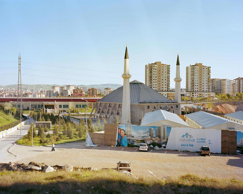 "© Norman Behrendt, from the series ""Brave New Turkey"", Türkkonut Merkez Camii, realized in 2014, Etimesgut, Ankara"