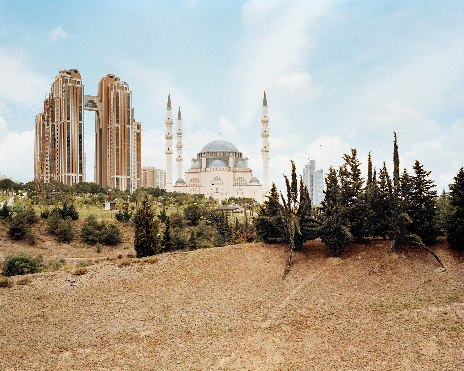 "© Norman Behrendt, from the series ""Brave New Turkey"", Atasehir Mimar-Sinan-Camii, realized 2012, Atasehir, Istanbul"