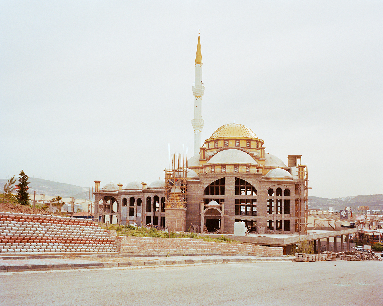 "© Norman Behrendt, from the series ""Brave New Turkey"", İvedik Yavuz Sultan Selim Cami, still in construction, Yenimaha"