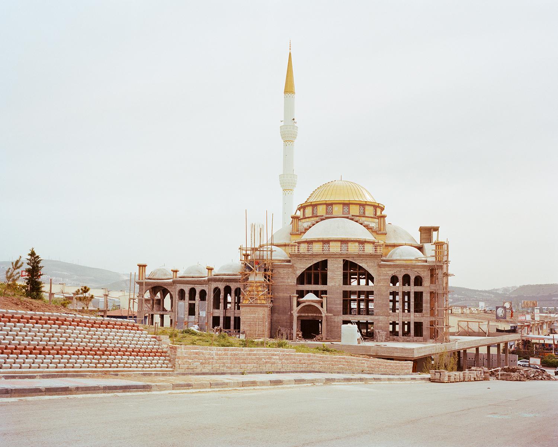 "© Norman Behrendt, from the series ""Brave New Turkey"", İvedik Yavuz Sultan Selim Cami, still in construction, Yenimaha"