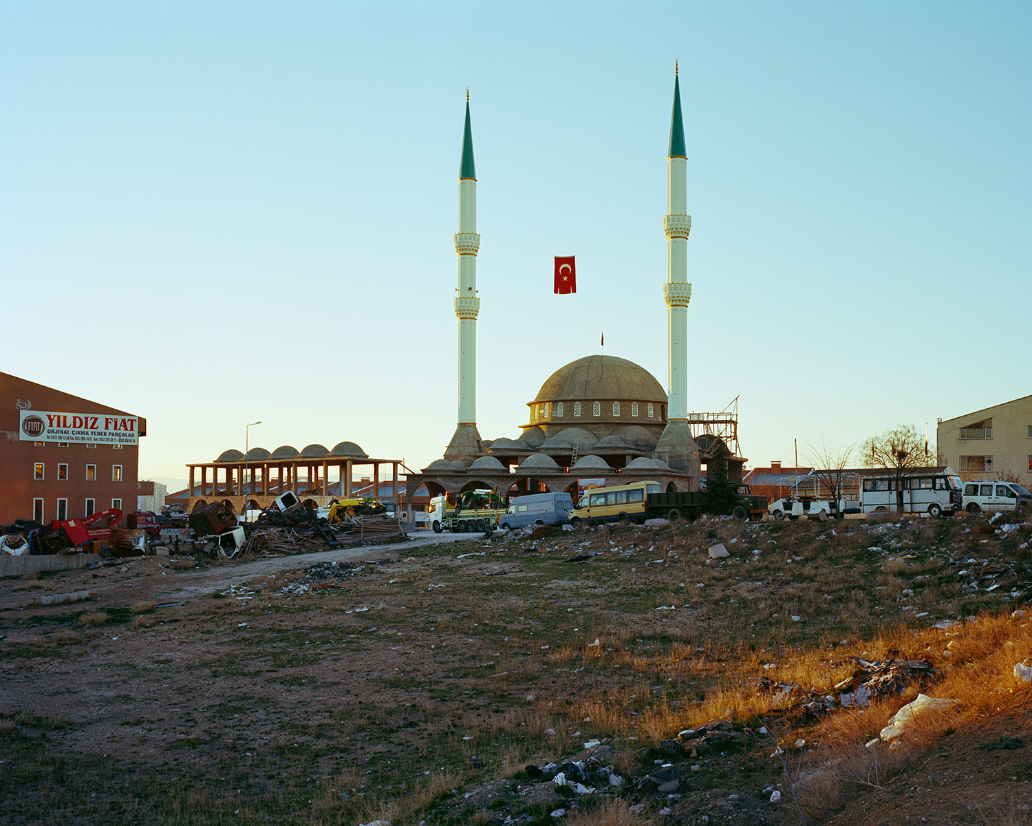 "© Norman Behrendt, from the series ""Brave New Turkey"", Orhan Gazi Camii, in construction, Ostim, Yenimahalle, Ankara"