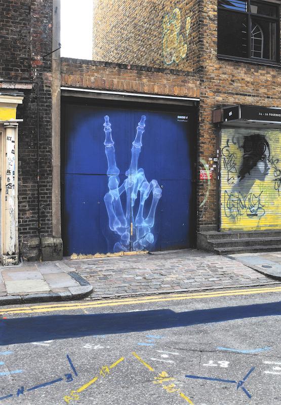 """© Anett Stuth, aus der Serie """"Fehlfarben"""", London Brick Lane, #2, 2017"""