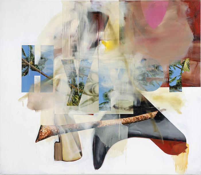 Albert Oehlen, Schuhe, 2008, Öl, Acryl, Papier auf Leinwand, 200 x 230 cm Foto: Jörg von Bruchhausen / Copyright: © Albert Oehlen/VG Bild-Kunst Bonn, 2019