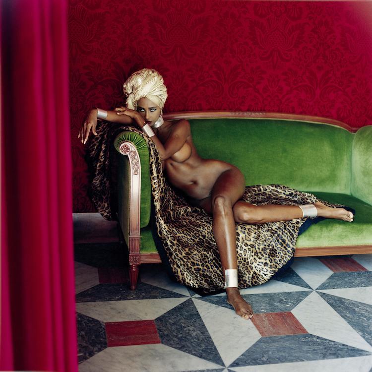 Helmut Newton, Iman, American Vogue, Hotel Negresco, Nice, 1989 © Helmut Newton Estate