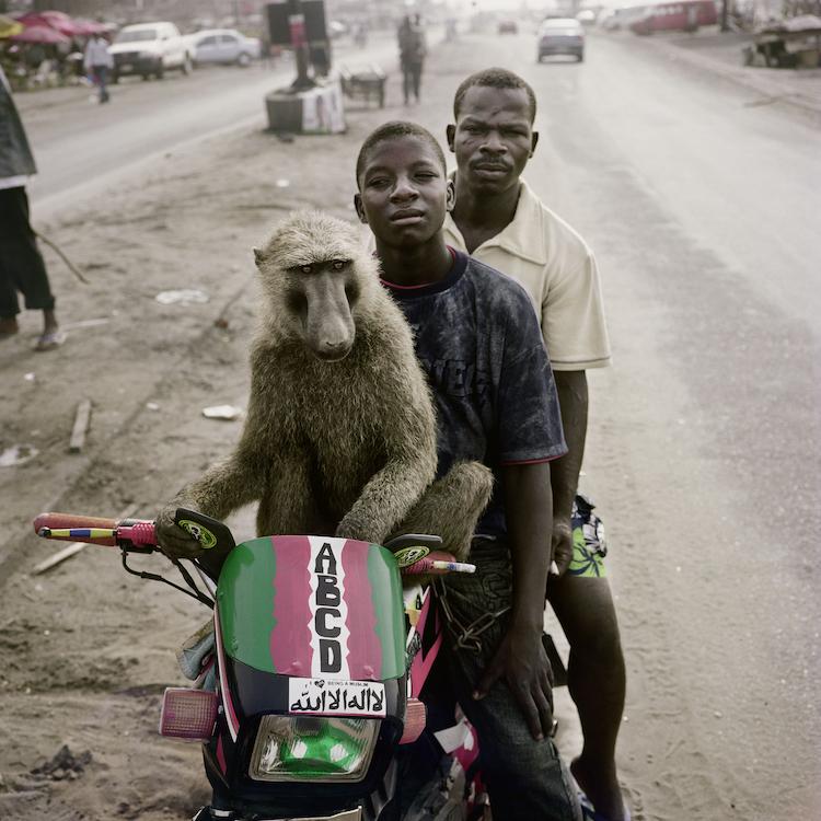 Pieter Hugo, Emeka, motorcyclist and Abdullahi Ahmadu, Asaba, Nigeria, 2007 © Pieter Hugo
